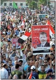 pendukung presiden mursi di kairo