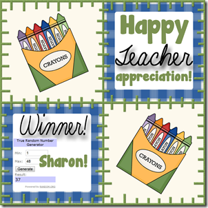 Teacher Appreciation 2 Winner