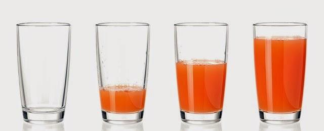 Set of glasses juice