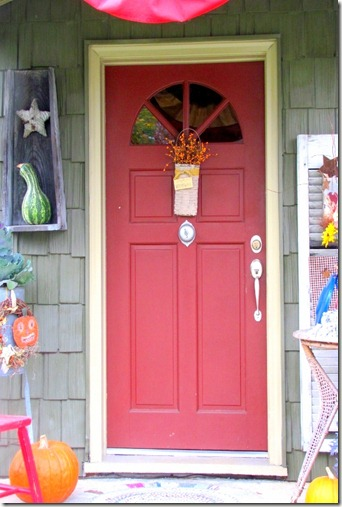 Red Autumn Door