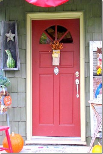 Red Autumn Door