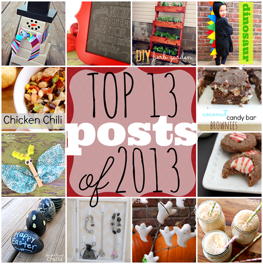 top 13 post of 2013 at GingerSnapCrafts.com #bestof2013