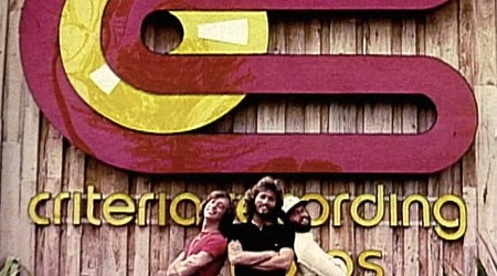 Bee Gees in front of Criteria