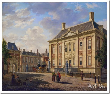 Gezicht op het Mauritshuis te Den Haag
