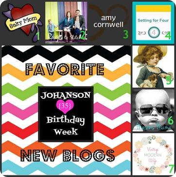 Johanson Journey New Fav blogs