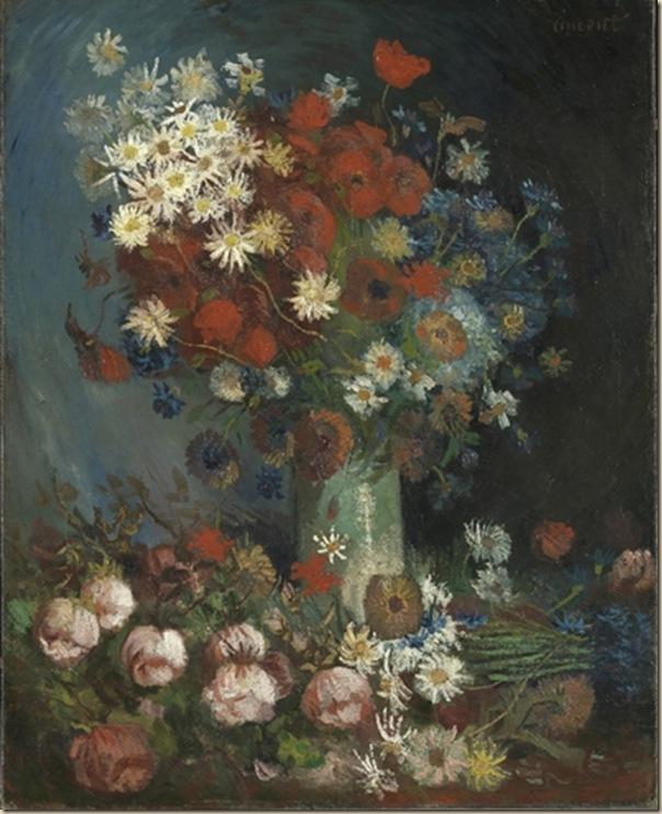 « Nature morte avec des roses et des fleurs des champs »
