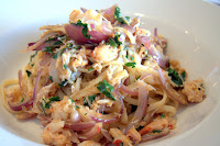 Crab pasta