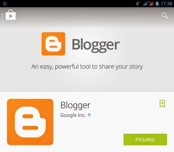 Ngeblog Menggunakan Aplikasi Blogger di Android