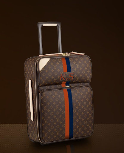 What do you think? Louisvuitton.com allows you to customize your colors and monogram to create a bespoke piece of luggage. (louisvuitton.com)