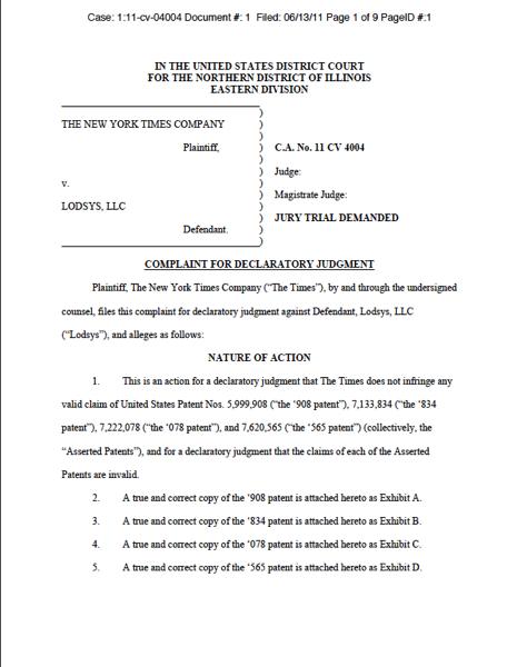 igoeIP Apple Patent Blog: Lodsys: NYT, OpinionLab follow ForSee ...