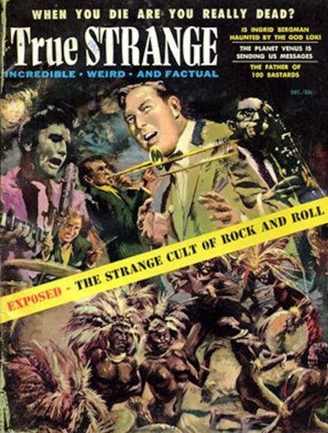 True Strange, December 1957.  Cover art by Thomas Beecham-8x6