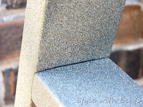 rustoleum spray painted rusty swing 6