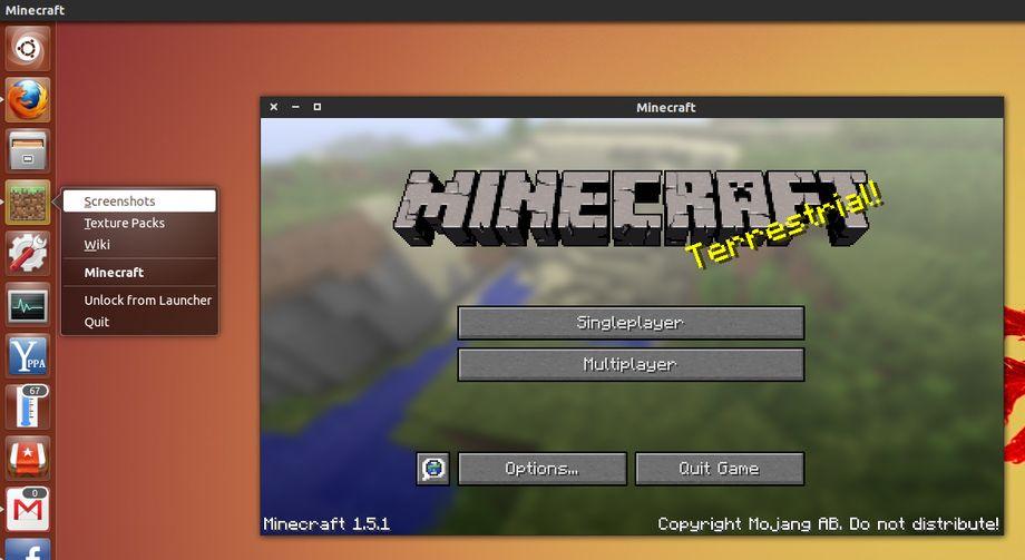 Minecraft in Ubuntu