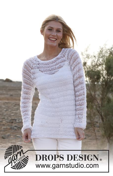 Knitting Club Meme : Пуловер со спущенными петлями ocean beauty drops