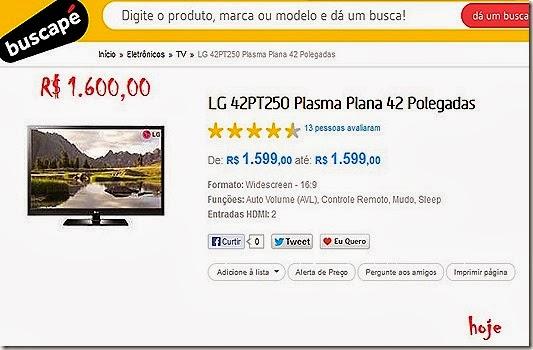 TV plasma 1600