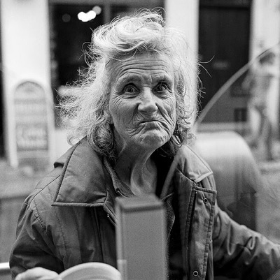 Crazy old lady