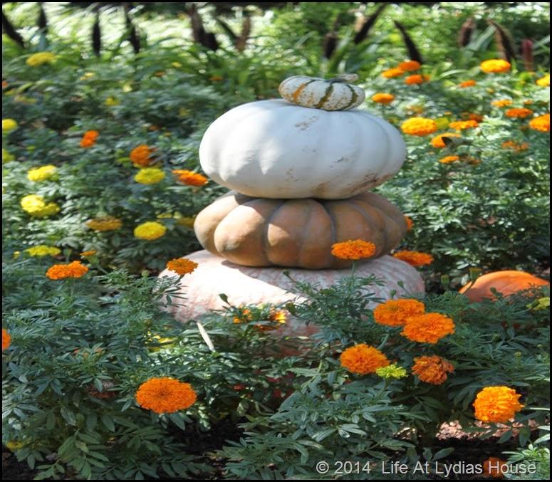 Dallas Arboretum - pumpkin festival-pumpkin totem 1