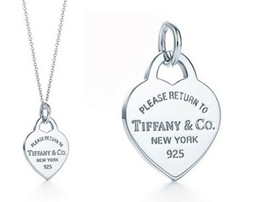 Tiffany Heart  tag charm