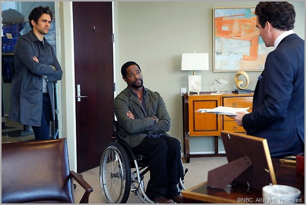 Neal Bledsoe (L) and Blair Underwood in IRONSIDE. CLICK to visit the official show site.