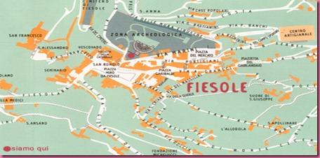 Fiesole - Cartina Zona Archeologica