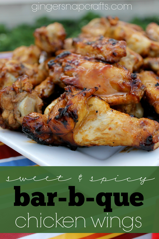 #ad Sweet & Spicy Bar-b-que Chicken Wings at GingerSnapCrafts.com #whatsgrillin #CollectiveBias