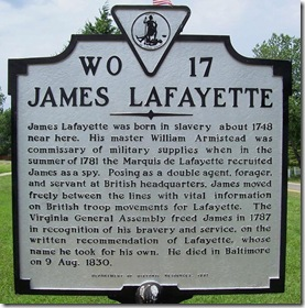James Lafayette Marker WO-17  New Kent Co., VA