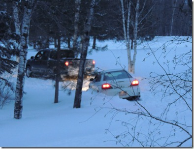 spaghetti feed warroad game truck stuck 061