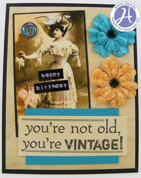 Hampton Art August Project Four Vintage Card