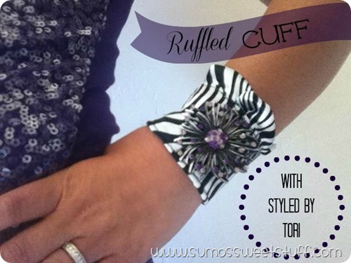 Ruffled Cuff with Styled By Tori - Sumo's Sweet Stuff #toristyle #sewing