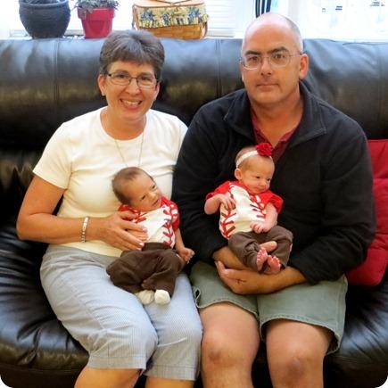Grandma & Grandpa Godby with the Grands