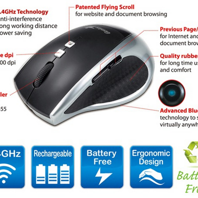 Genius DX-ECO: Battery-free Wireless Mouse That Charges in 3 Minutes