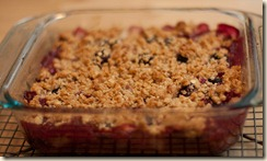 Simple Cookery Blackberry & Apple Crumble
