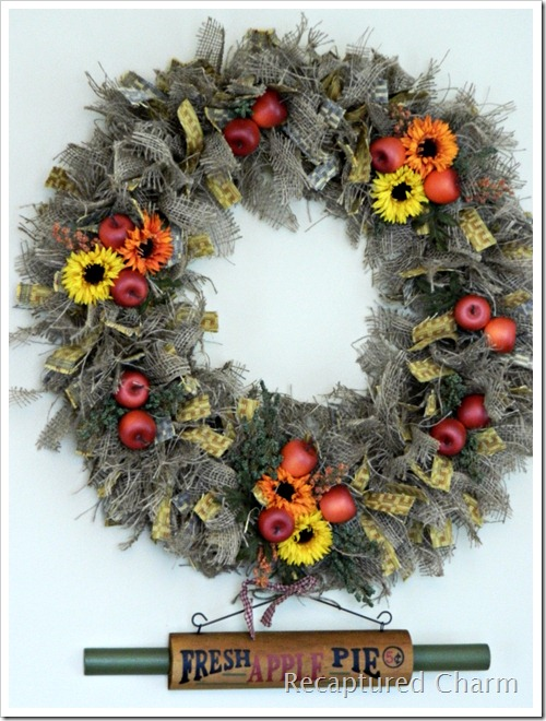 Autumn Kitchen Wreath 078a