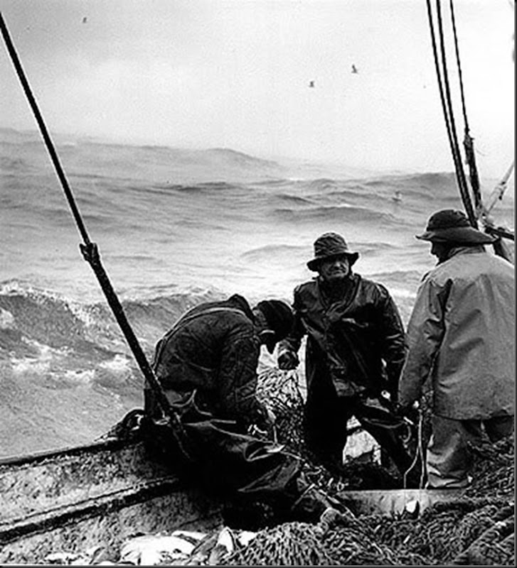 1954 Winter fishing in the north Atlanting