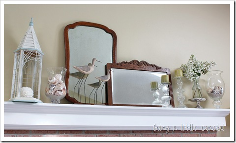 coastal summer decorations mantel