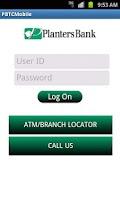 Screenshot of Planters Bank Mobile