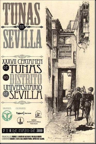 Cartel Certamen de Tunas de Sevilla 2010