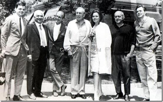 João Luiz Albuquerque, Dorival Caymmi, Aloysio de Oliveira, Walt Disney, Norma Bengell, Vinícius de Moraes e Antonio Carlos Jobim