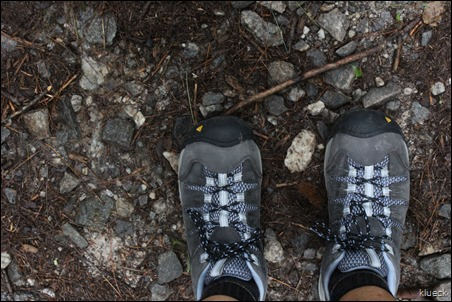 my big old new waterproof Keen hiking shoes