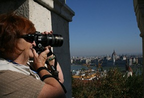 capturing the view from Castle Hill