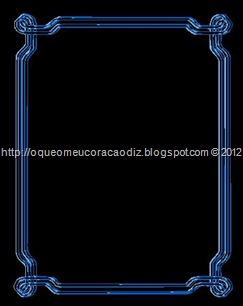 Moldura Blue 3D