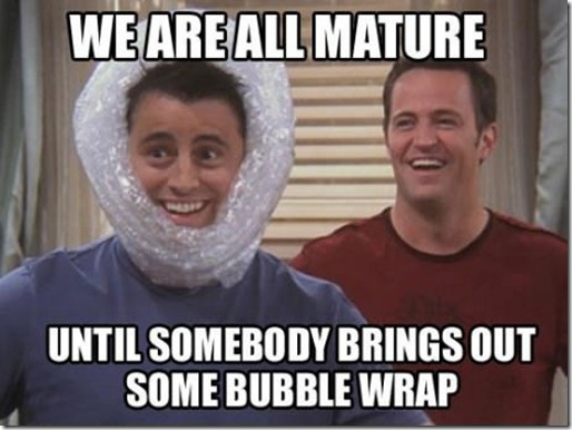 friends bubble wrap