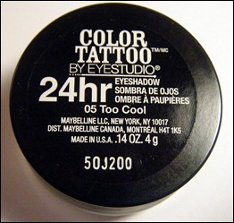 Maybelline Too Cool Color Tattoo Eyeshadow