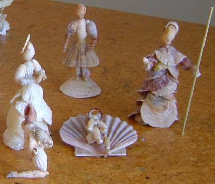 Presépios criativos - presépio de conchas