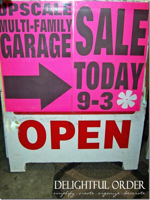 delightful order  hosting a more organized garage sale