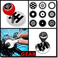 GEAR- 4 Pics 1 Word Answers 3 Letters