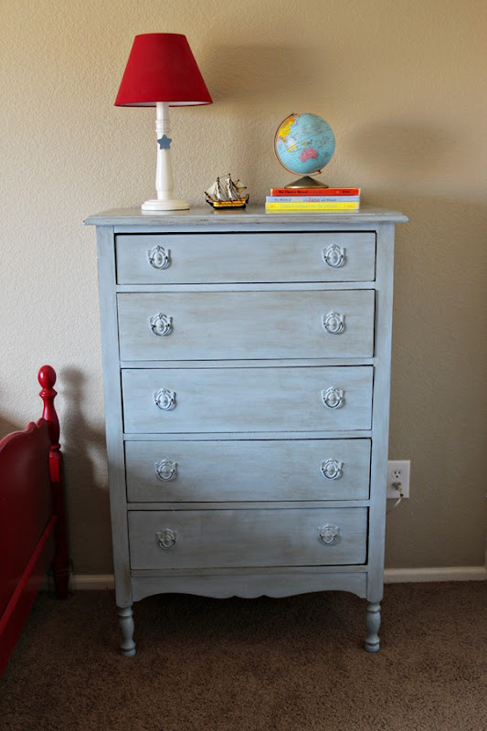 blue dresser