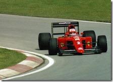 Mansell al volante della Ferrari nel 1990