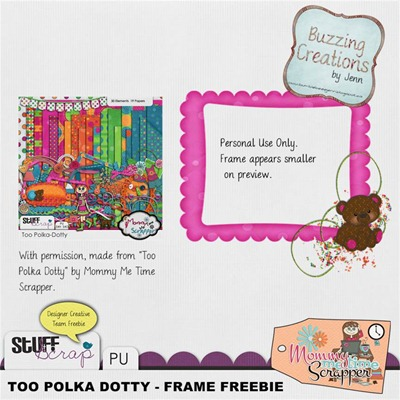 Mommy Me Time Scrapper - Too Polka Dotty - Frame Freebie Preview