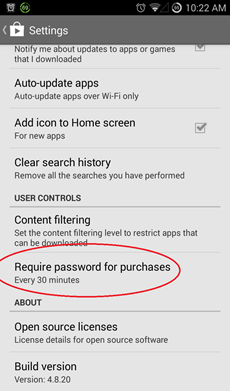 play store app purchase